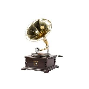 grammofono con cassa quadrata