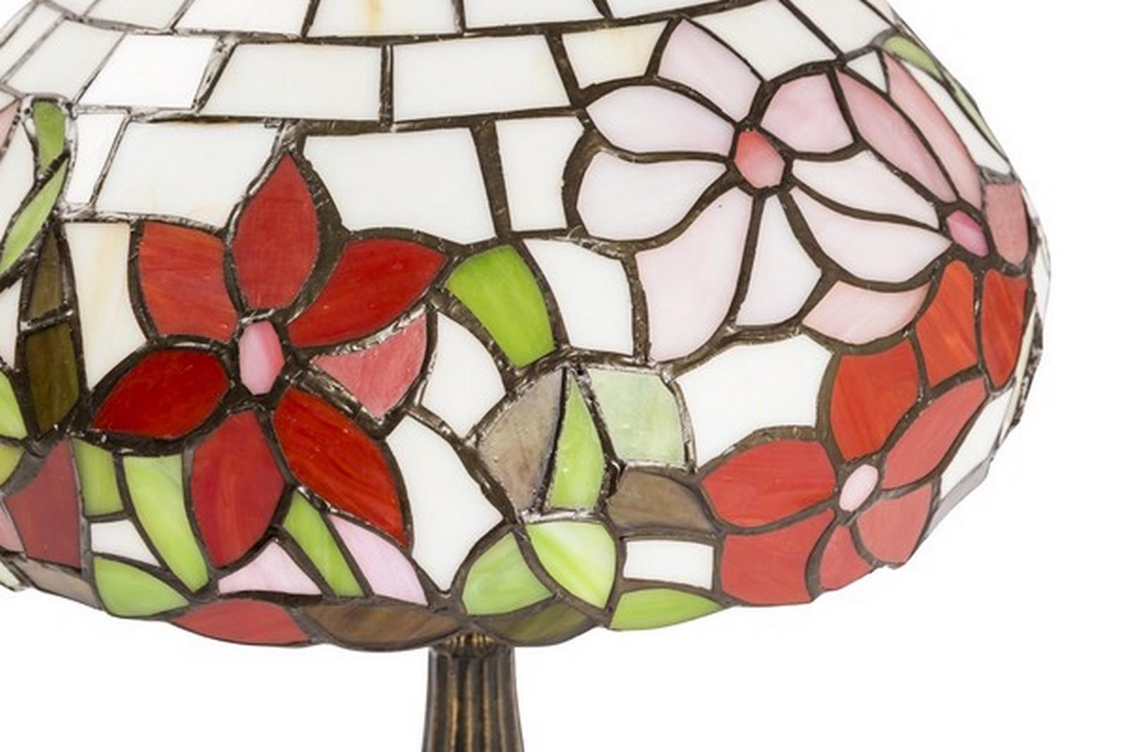 Lampada tiffany da tavolo con fiori way home store