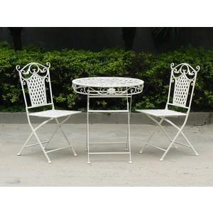 set tavolo 2 sedie ferro bianco giardino