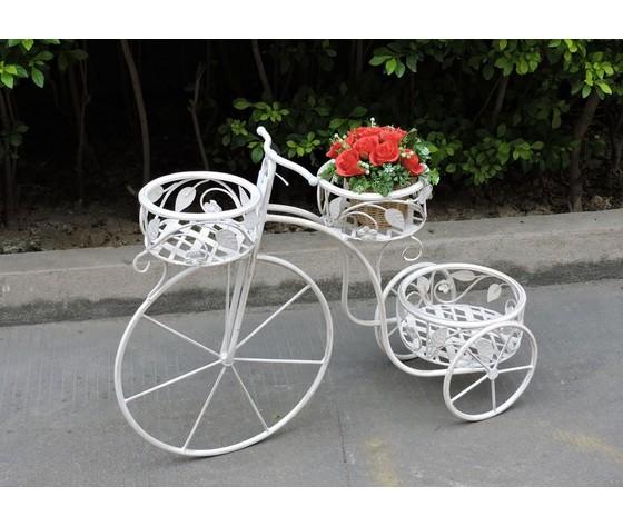 bicicletta portafiori in ferro bianco