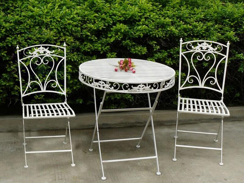 Set tavolo e 2 sedie da giardino in ferro bianco way for Sedie giardino ferro