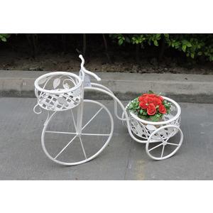bicicletta portavasi in ferro bianco