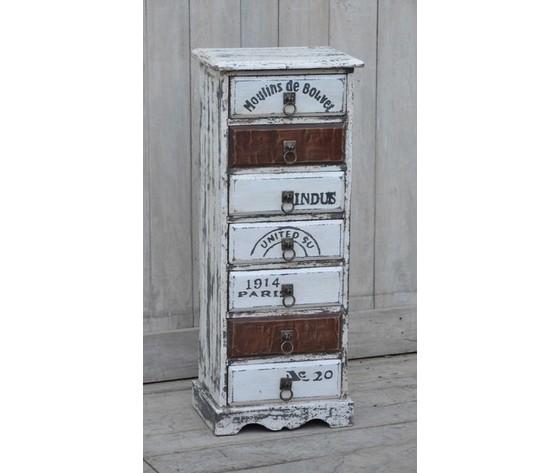 cassettiera settimino 7 cassetti legno industrial