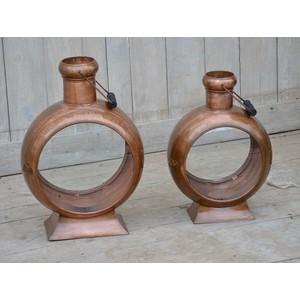 Lanterna bronzo Industrial 47cm