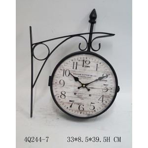 orologio da parete stile stazione anticato shabby nero