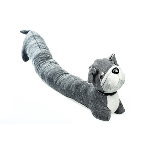 Paraspifferi porte a forma di cane grigio