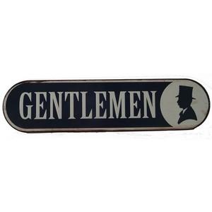 targa metallo gentlemen