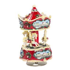 idee regalo grande carillon natale rosso