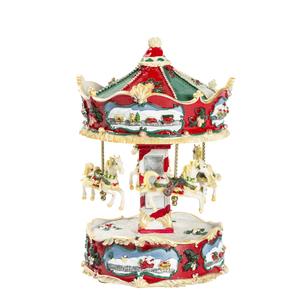 idee regalo piccolo carillon natale rosso