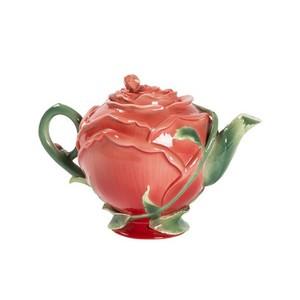 teiera ceramica rossa