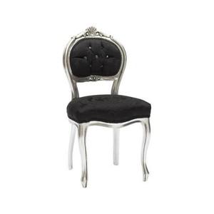 sedia musicista barocco argento e nera