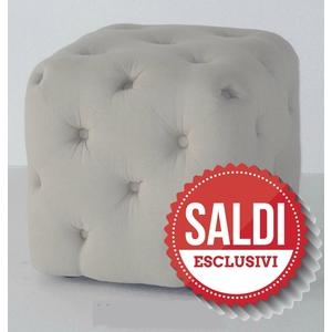 pouf quadrato bianco saldi