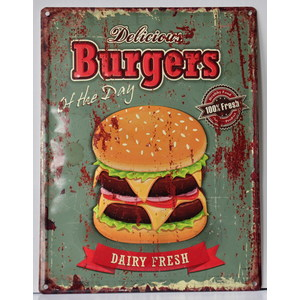 Pannello targa metallo Burgers