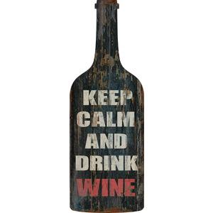 Pannello targa Legno Keep Calm Wine