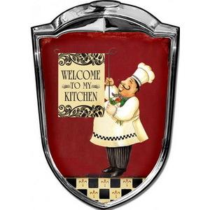 Targa pannello metallo Scudetto Welcome to my kitchen