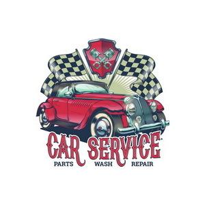 Targa pannello metallo Car Service
