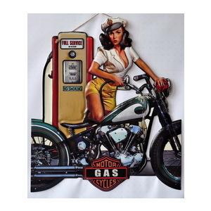 Targa pannello metallo Motor Gasoline