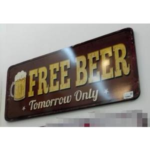 Targa pannello insegna Marrone Free Beer
