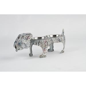 Portaciotole cani e gatti ferro battuto Vintage Dog