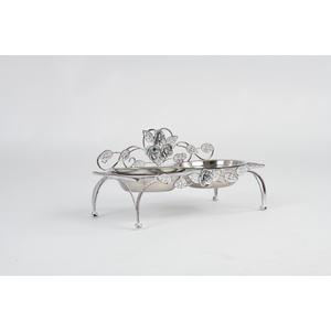 Portaciotole cani e gatti ferro battuto stile Shabby Vintage Rose