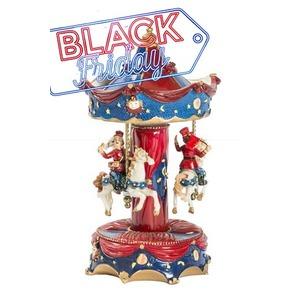 Carillon Natalizio rosso e blu
