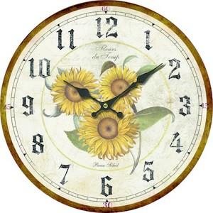orologio da parete stule shabby chic stampa girasoli
