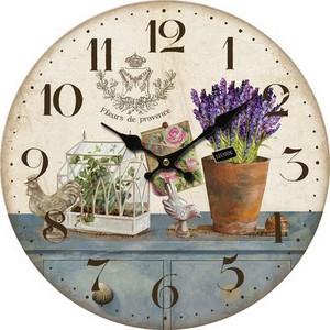 orologio da parete stule shabby chic stampa fiori