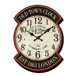 Orologio da parete stampa old town