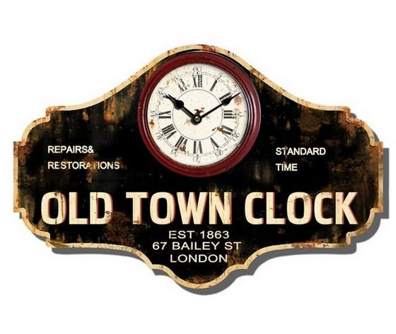 orologio da parete legno anticato  old town