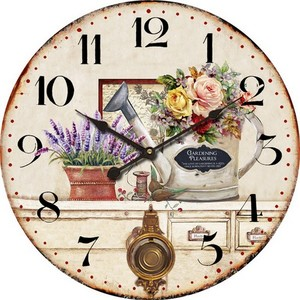 orologio da parete stampa fiori