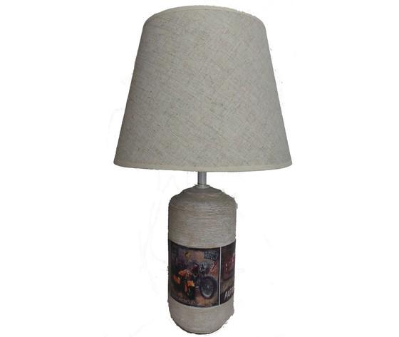 lampada da tavolo grigia