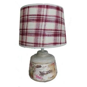 lampada da tavolo stampa fiori scozzese
