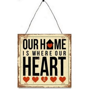 targa appendere metallo home heart
