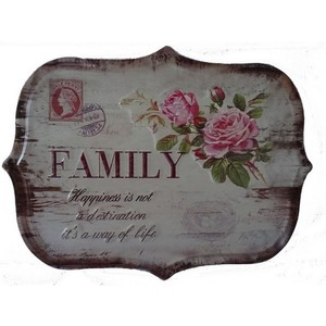 targa appendere metallo family