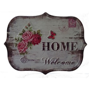 targa appendere metallo home welcome