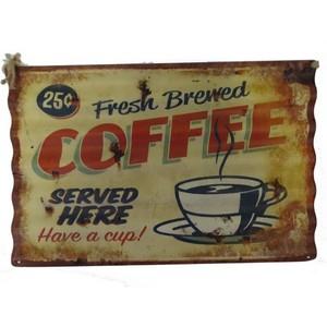 pannello da muro decorativo metallo coffee