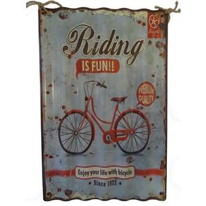 pannello da muro decorativo metallo bicicletta