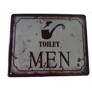targa metallo toilet men