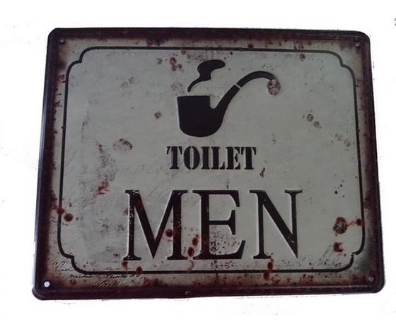targa metallo toilet men