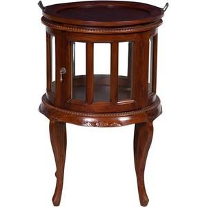 tavolo rotondo da bar legno noce