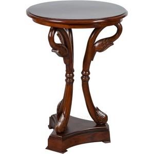 tavolino rotondo legno noce