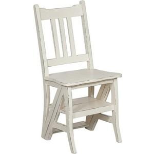 sedia a scala legno bianca