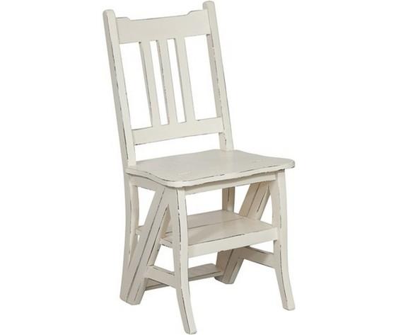 Sedia a scala per libreria bianca - WAY HOME STORE