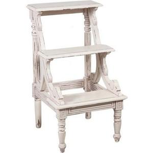 scala libreria legno anticato bianco