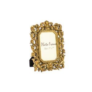 portafoto resina barocco oro foglie