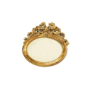 portafoto resina barocco oro ovale