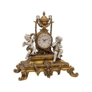 orologio da appoggio stile barocco con angeli