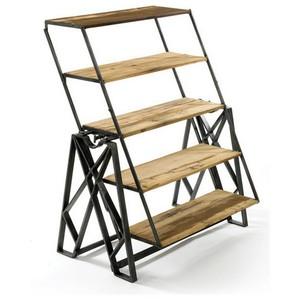 libreria industria girevole ferro e legno
