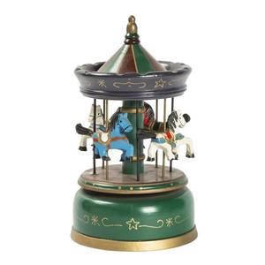 carillon giostra natalizia musicale verde
