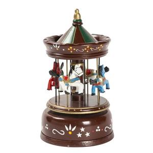 carillon giostra marrone musicale